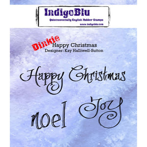 IndigoBlu - Cling Mounted Stamp - Happy Christmas - Dinkie