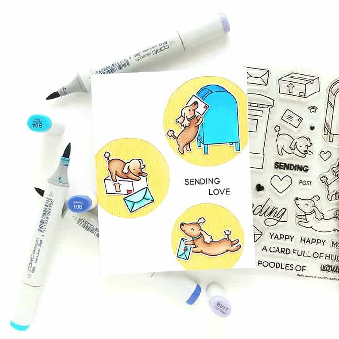 Heffy Doodle - Clear Stamp Set - Happy Mail