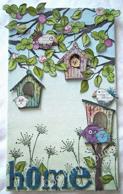 PaperArtsy - JOFY 15 - Rubber Cling Mounted Stamp Set