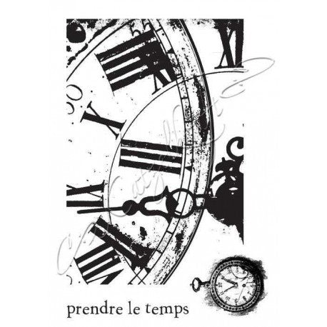 Katzelkraft - KTZ030 - Unmounted Red Rubber Stamp - Clocks
