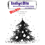 IndigoBlu - Cling Mounted Stamp - Ickle Christmas Tree - Dinkie