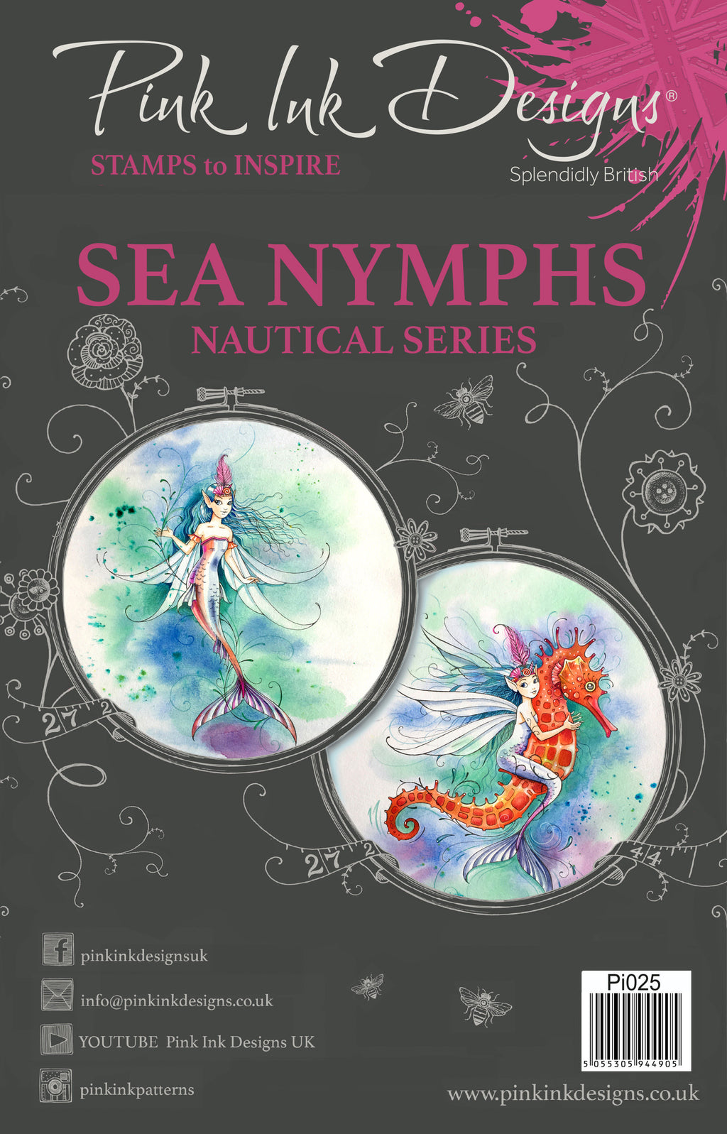Pink Ink Designs - Clear Photopolymer Stamps - Sea Nymphs