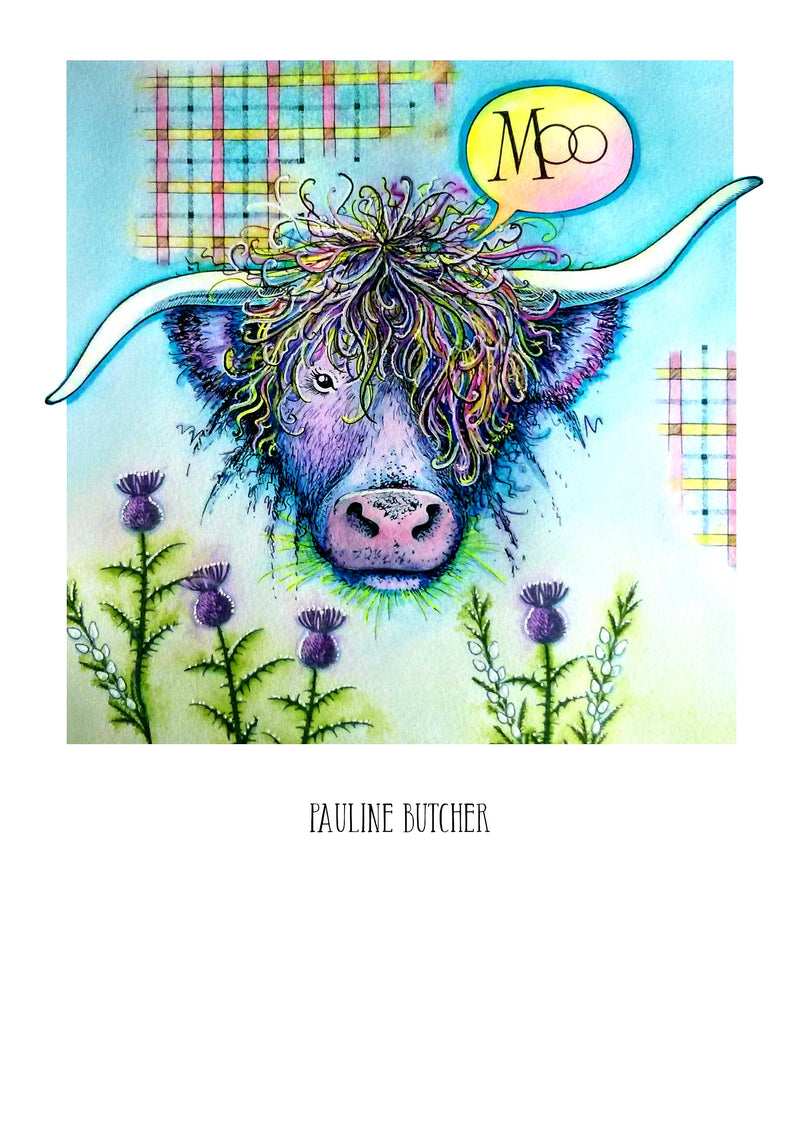 Pink Ink Designs - Clear Photopolymer Stamps - Cow's It Going?
