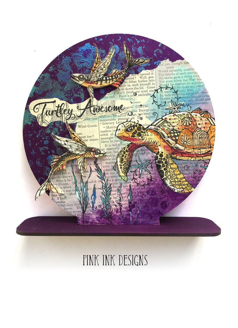 Pink Ink Designs - Clear Photopolymer Stamps and Matching Dies - Something Fishy