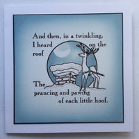 Claritystamp - Clear Stamp - A6 - Twas the Night Before Christmas - Twinkling