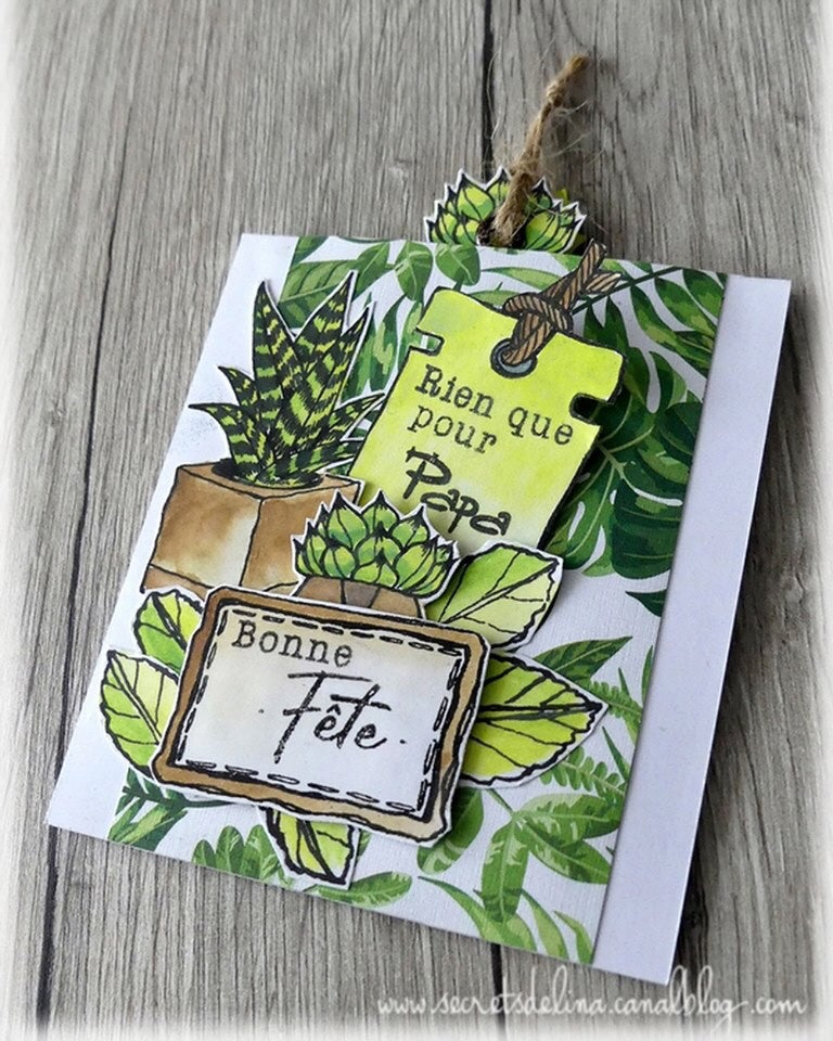 L'Encre et L'Image - A6 - Clear Stamp Set - Winter Gardens - Cozy Days