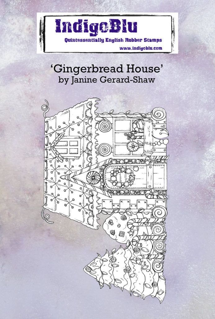 IndigoBlu - Cling Mounted Stamp - Gingerbread House
