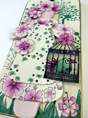 PaperArtsy - JOFY MINI 36 Bird Cage - Rubber Cling Mounted Stamp Set