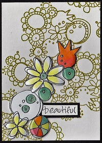 PaperArtsy - JOFY MINI 60 - Rubber Cling Mounted Stamp Set