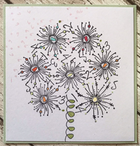 PaperArtsy - JOFY MINI 64 - Rubber Cling Mounted Stamp Set