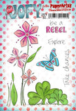 PaperArtsy - JOFY 50 - Rubber Cling Mounted Stamp Set