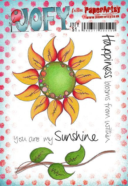 PaperArtsy - JOFY 51 - Rubber Cling Mounted Stamp Set
