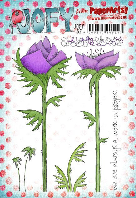 PaperArtsy - JOFY 52 - Rubber Cling Mounted Stamp Set