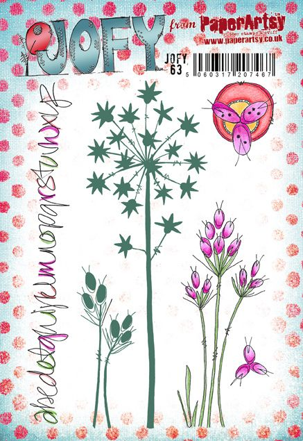 PaperArtsy - JOFY 63 - Rubber Cling Mounted Stamp Set