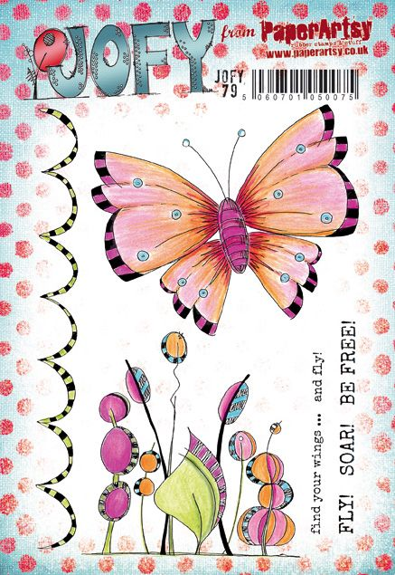 PaperArtsy - JOFY 79 - Rubber Cling Mounted Stamp Set