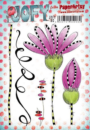 PaperArtsy - JOFY 80 - Rubber Cling Mounted Stamp Set