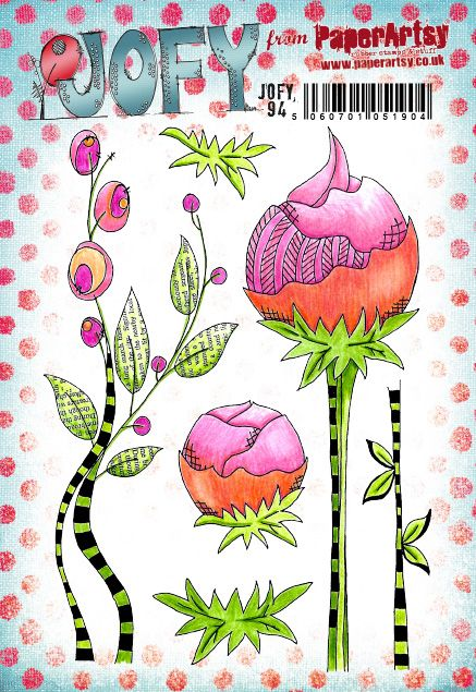 PaperArtsy - JOFY 94 - Rubber Cling Mounted Stamp Set