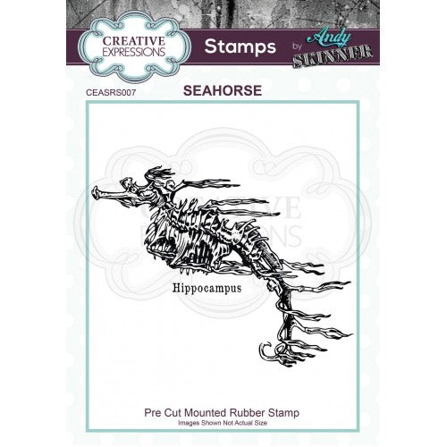 Creative Expressions - Rubber Cling Stamp - Andy Skinner - Seahorse