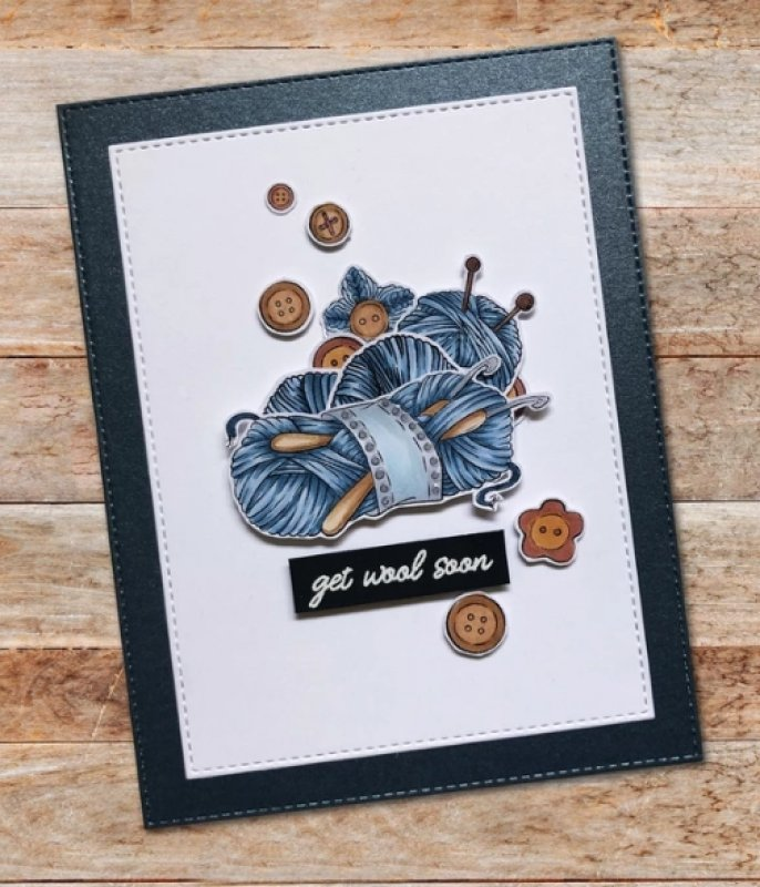 Paper Rose - Knit Happens 4 x 6 - Clear Stamp Set
