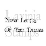 Lavinia - Never Let Go Of Your Dreams - Clear Polymer Stamps