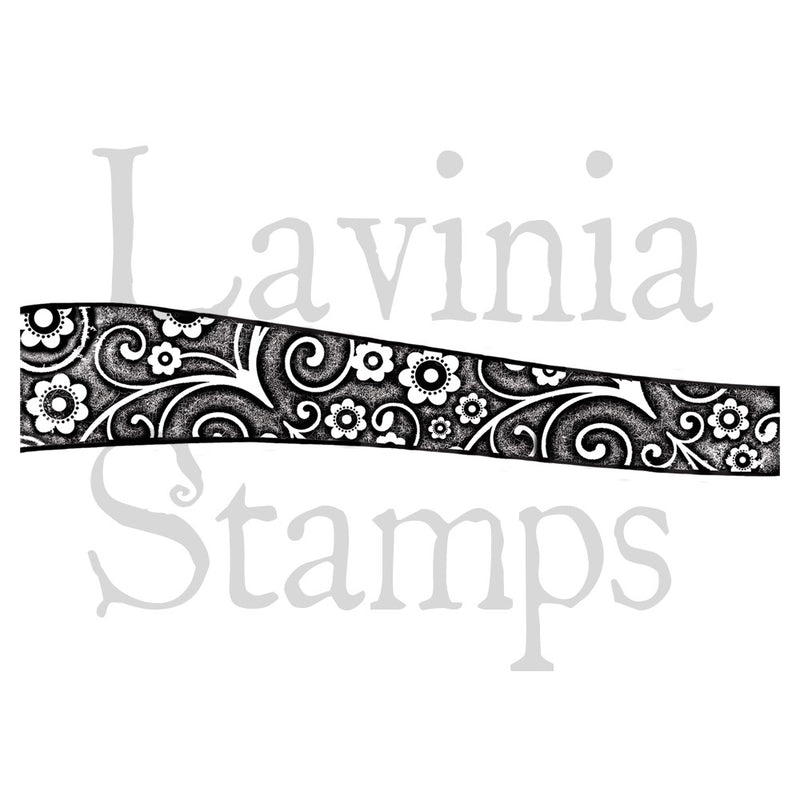 Lavinia - Hill Floral Border Stamp - Clear Polymer Stamp