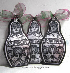 PaperArtsy - Lynne Perrella 16 - Rubber Cling Mounted Stamp Set