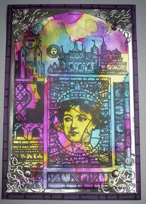 PaperArtsy - Lynne Perrella 33 - Rubber Cling Mounted Stamp Set