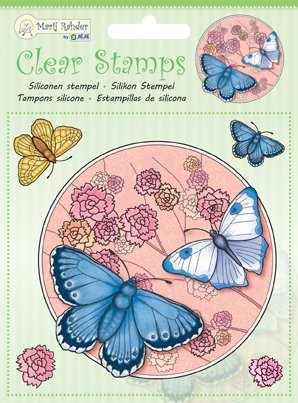 Marij Rahder - Clear Silicon Stamp Set - Butterflies