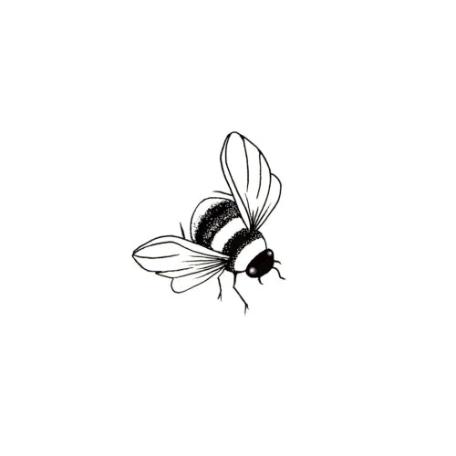 Lavinia - Bumble Bee Miniature - Clear Polymer Stamp