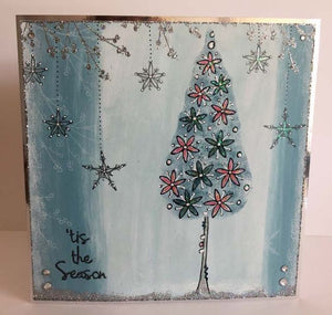 PaperArtsy - Stencil - Kay Carley PS069 - Christmas Trees & Snow