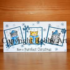 Hobby Art Stamps - Clear Polymer Stamp Set - Santa Paws