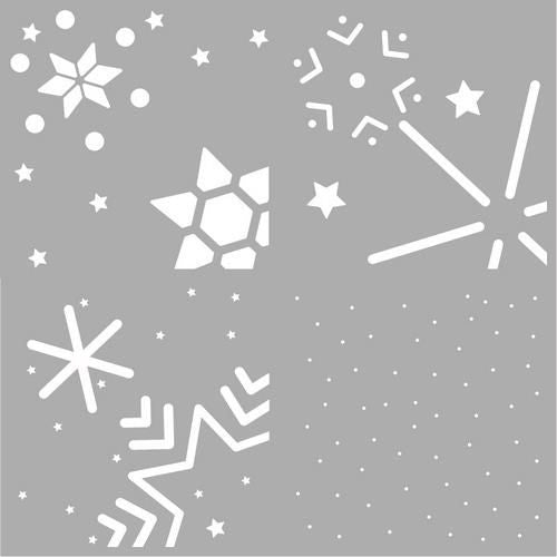 Pronty - 6x6 - Layered Stencils - Snowstars