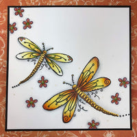 PaperArtsy - Kay Carley 24 - Rubber Cling Mounted Stamp Set