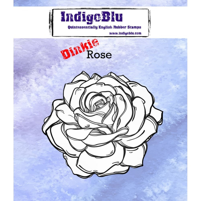 IndigoBlu - Cling Mounted Stamp - Rose - Dinkie