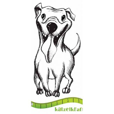Katzelkraft - SOLO087 - Unmounted Red Rubber Stamp - Bonzy - Dog