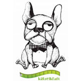 Katzelkraft - Holmy - Dog - Unmounted Red Rubber Stamp