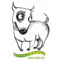 Katzelkraft - Sidony - Dog -  PREORDER - Unmounted Red Rubber Stamp