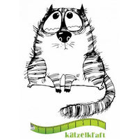 Katzelkraft - The Fat Cats 1 - Unmounted Red Rubber Stamp