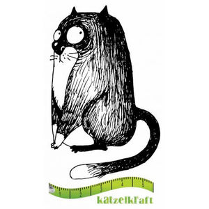 Katzelkraft - SOLO073 - Unmounted Red Rubber Stamp - The Fat Cats 2