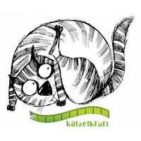 Katzelkraft - The Fat Cats 5 - Unmounted Red Rubber Stamp
