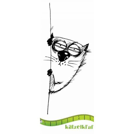 Katzelkraft - The Fat Cats 9 - Ignace - Unmounted Red Rubber Stamp