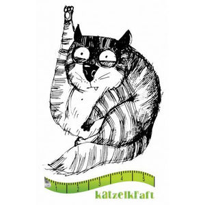 Katzelkraft - SOLO081 - Unmounted Red Rubber Stamp - The Fat Cats 10 - Jasper