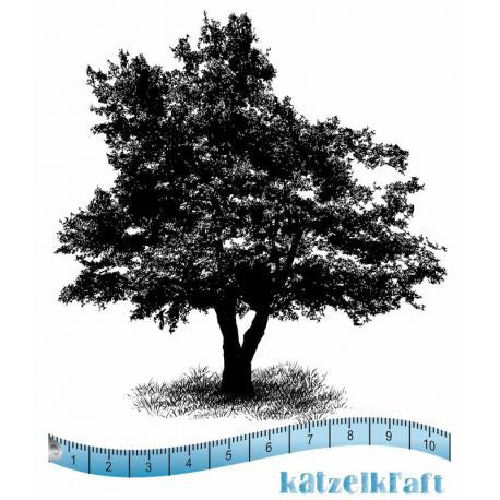 Katzelkraft - Tree - Unmounted Red Rubber Stamp