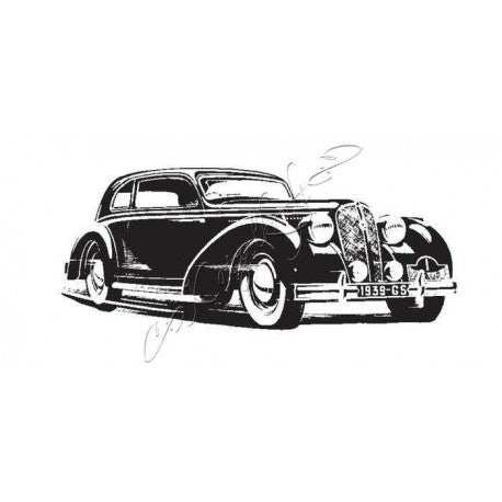 Katzelkraft - Voiture - Car - Unmounted Red Rubber Stamp Set
