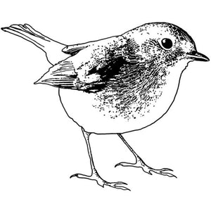 Crafty Individuals - Unmounted Rubber Stamp - 456 - Sweet Robin Redbreast