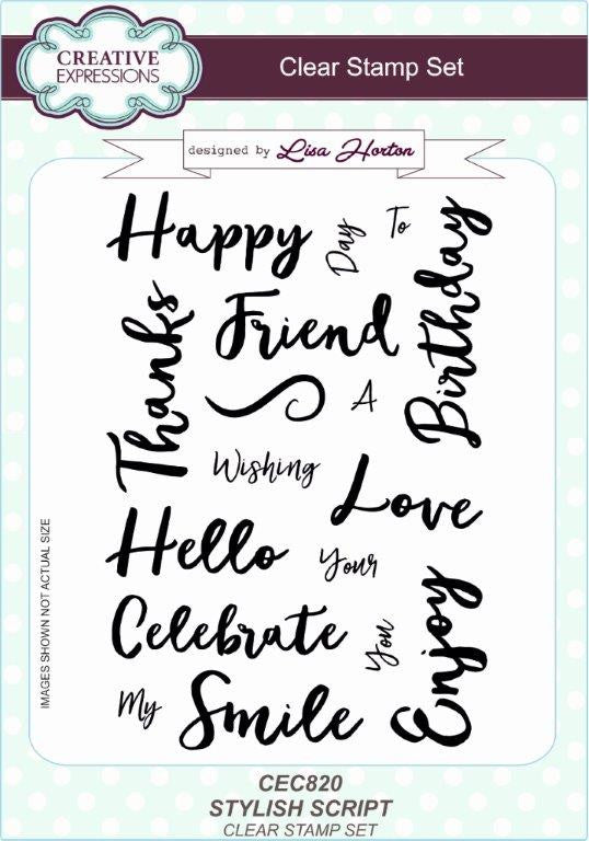 Creative Expressions - Stylish Script - Clear Stamp Set