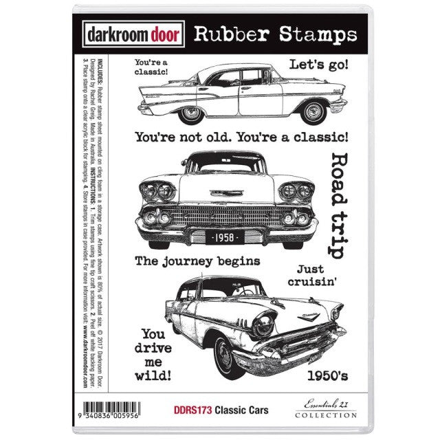 Darkroom Door - Rubber Stamp Set - Classic Cars
