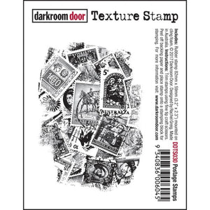 Darkroom Door - Postage Stamps - Red Rubber Cling Stamp