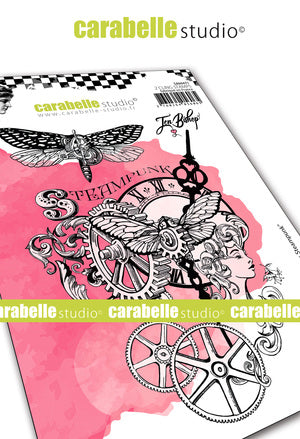 Carabelle Studio - Rubber Cling Stamp A6 -Steampunk Chronicles - Jen Bishop