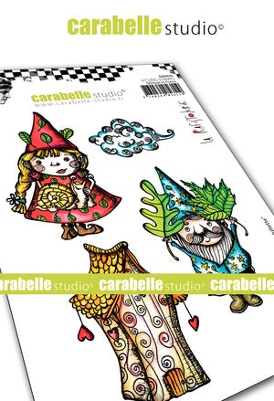 Carabelle Studio - Rubber Cling Stamp Set A6 - Renaud and Juliette - La Rafistolerie